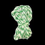Шпагат для колбас хб бело-зеленый 10 м